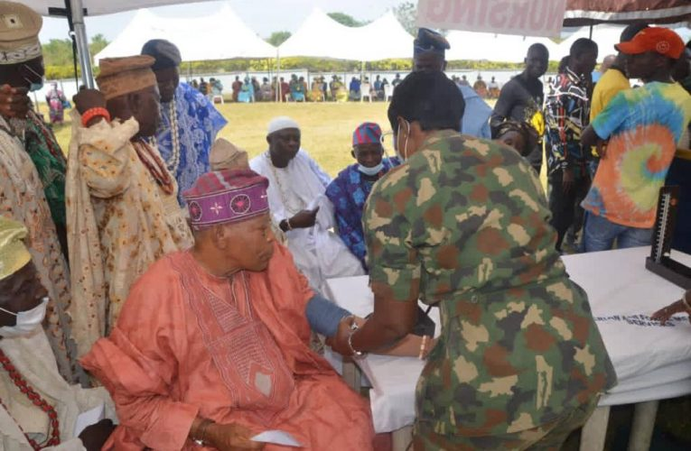 NAF FLAGS OFF CANCER SCREENING, FREE MEDICAL SERVICES FOR HOST COMMUNITIES IN IPETU-IJESHA, OSUN STATE.