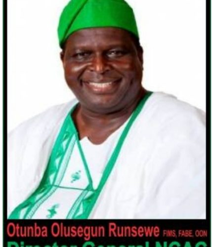 Rabo,: We Can't Forget Him— Runsewe, DG NCAC