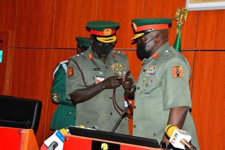 Buratai Hands Over To New Army Chief, Attahiru.