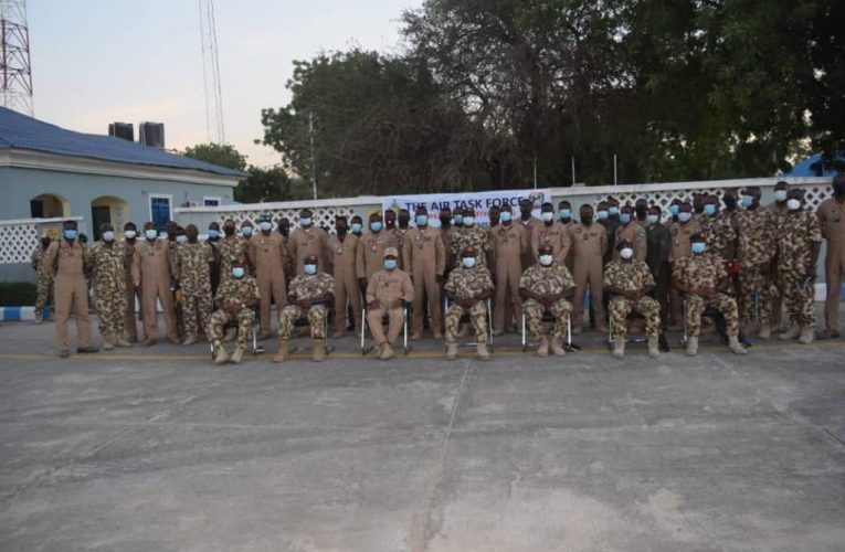 COUNTER-INSURGENCY: CAS CHARGES PERSONNEL TO INTENSIFY OPERATIONS FOR TOTAL DEFEAT OF INSURGENTS AS HE VISITS HQ ATF MAIDUGURI, 171 DETACHMENT MONGUNO     .