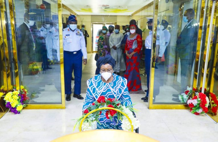 Plane Crash: Minister Of Women Affairs Dame Pauline Tallen on A Condolence Visit To NAF.
