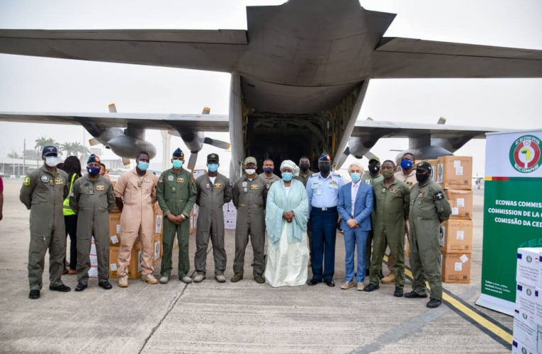 NAF Commences Airlift Of Covid-19 Relief Materials To West African Countries.