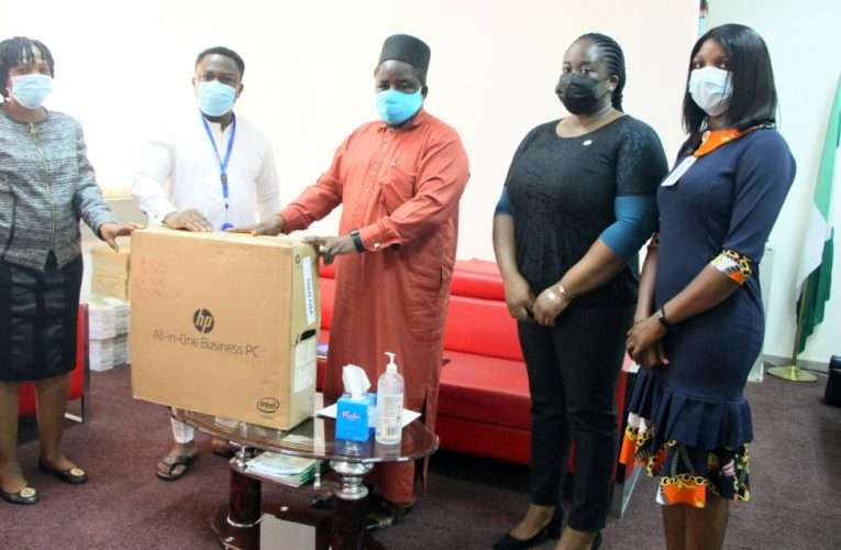 IOM DONATES COMPUTER TO NIDCOM FOR DIASPORA MAPPING.
