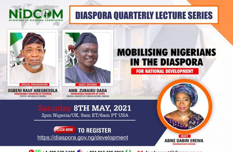 NIDCOM Holds Maiden Diaspora Quarterly Lecture.