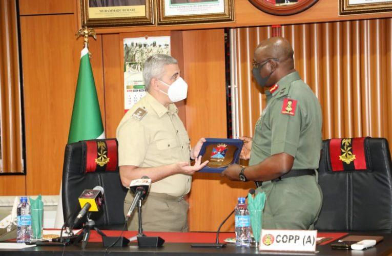 INSECURITY:NIGERIAN ARMY PARTNERS ITALIAN MILITARY ON MANPOWER DEVELOPMENT.