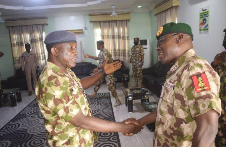 COAS, CAS In Maiduguri, Celebrate Sallah With Air Component Personnel Of Operation Hadin Kai.