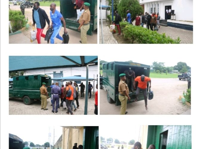 Nigerian Navy Hands Over Convicted Pirates To Nigeria Correctional Services.